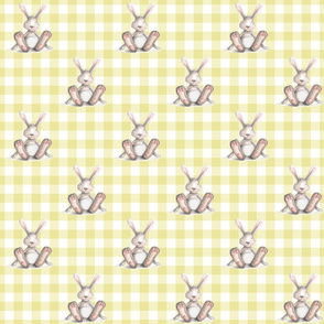 Yellow plaid Bunny