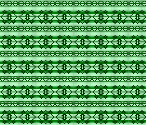 basicchart-green fabric by spunky_eclectic on Spoonflower - custom fabric