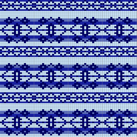basicchart-blue fabric by spunky_eclectic on Spoonflower - custom fabric