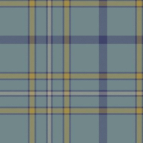 "Alaska ancient flag tartan, 6"" weathered"