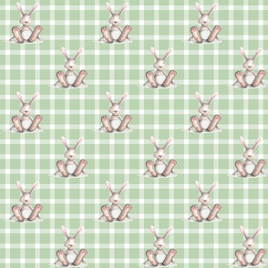 Green Plaid Bunny