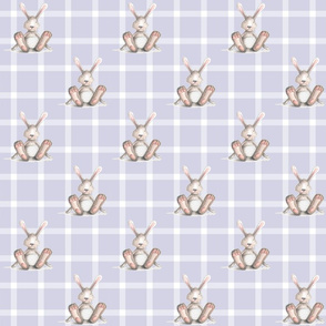 Purple Plaid Bunny