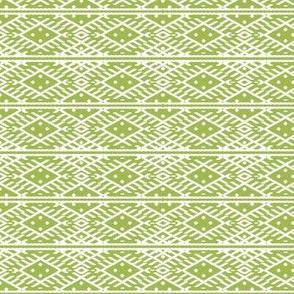 folk pattern green-white