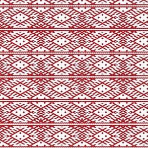 folk pattern red-white