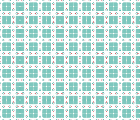 03-06-2019TurquoiseRed 3 fabric by mammajamma on Spoonflower - custom fabric