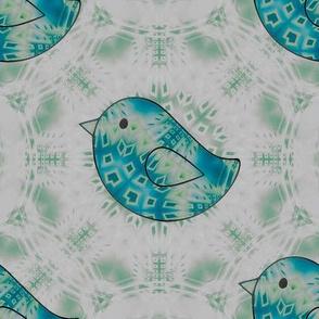 Birds in Torquoise Fractal