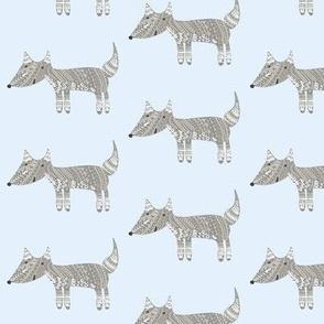 Detailed Fox Wolf Grey