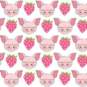 pig faces and strawberries