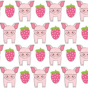 pigs and strawberries