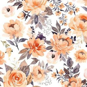 Medium // Pretty Peach Flowers