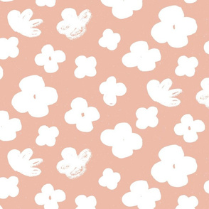 Big Flowers M+M Peachy Pink by Friztin