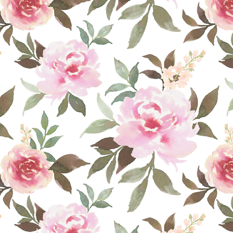 Flowy Peony fabric by mintpeony on Spoonflower - custom fabric