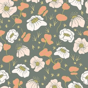 Country Floral Olive