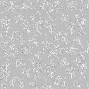 Widdle Bitty Bees- Charcoal Grey flowered