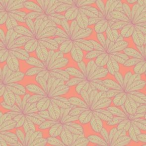 Leaf peach_Tegnebrt 1_Tegnebrt 1
