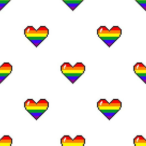 All love hearts pattern
