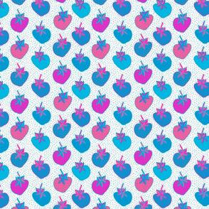 strawberry pattern neon