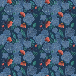Roses with the blues