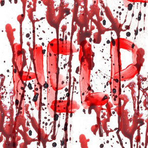 2 blood splatter help distress message signal bloodstain dripping red maroon liquid white horror Halloween bleeding murder paint clot macabre leaking victim wet death scary horrifying morbid macabre spooky eerie frightening violence hurt serial killer ins