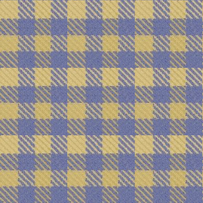 Blue and Gold Plaid Trendy1920s Colors