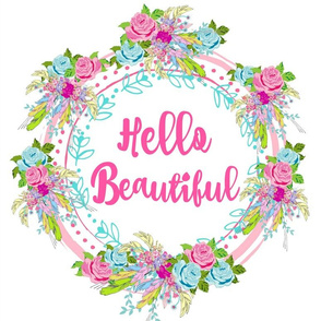 hello beautiful rose feather wreath- XL 1543