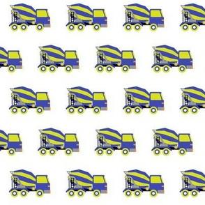 mixer trucks green-violet