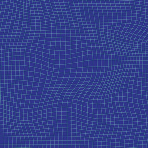 Distorted, advanced, geometrical, navy raster in color palette of blue and green.
