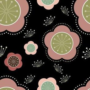 Plum_Blossoms_Various_Pinks_on_Black