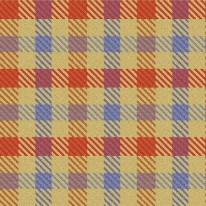 Blue Red and Gold Plaid Trendy1920s Colors