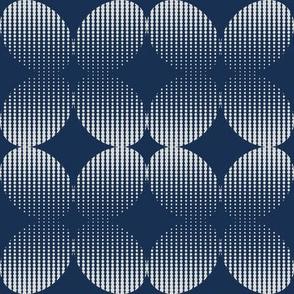 Halftone geometric circles