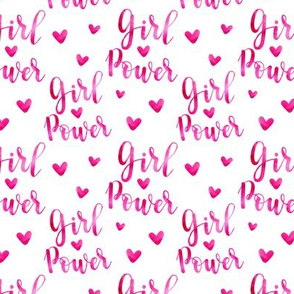 girl power, hearts - small scale watercolor painted girly graphic