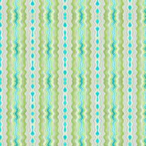 Trickles & Drips in Spring Green & Teal