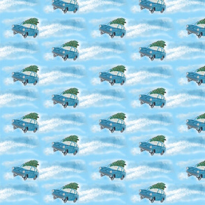 Flying Car Christmas