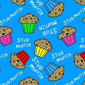 stud muffins white text