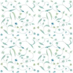 Flower tendril_white