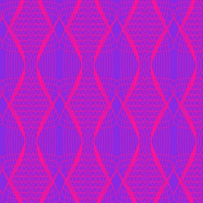 Repeat symmetrical waves in neon pink and purple