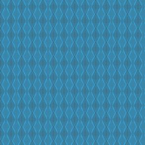 Symmetrical waves in blue