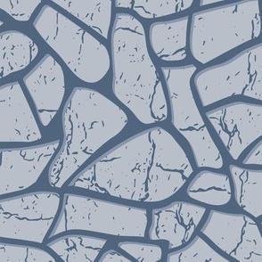 Concrete stones with structure in monochrome color palette.