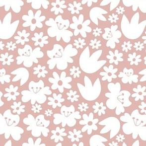 Floral pattern Light pink