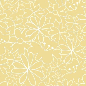 Floral pattern Light yellow