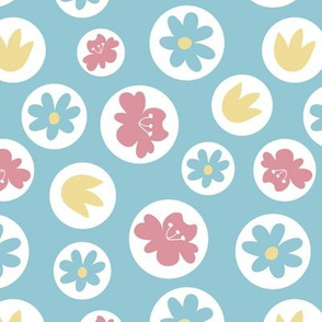 Floral pattern with circle