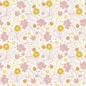 Floral pattern Off white