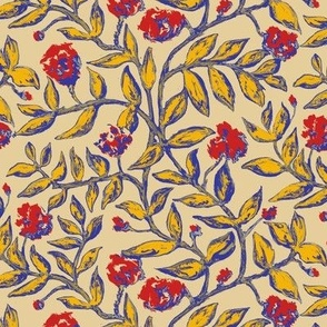 Vines with Blooms Trendy1920s Colors 1