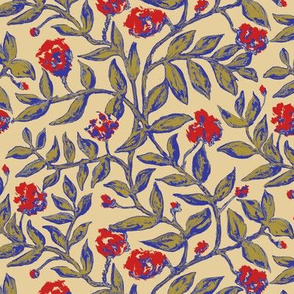 Vines with Blooms Trendy1920s Colors 2
