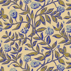 Vines with Blooms Trendy1920s Colors 3
