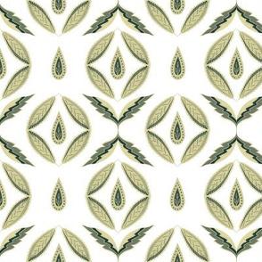 Botanical abstract. Scandinavian green
