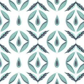 Botanical abstract. Scandinavian mint
