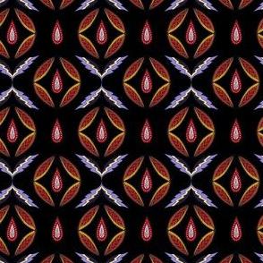 Eastern folk. Red and violet