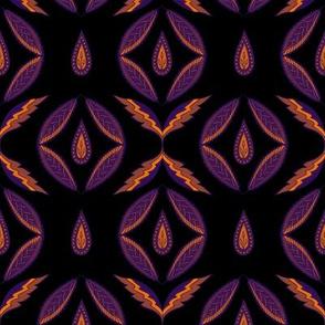 Eastern folk. Purple and orange
