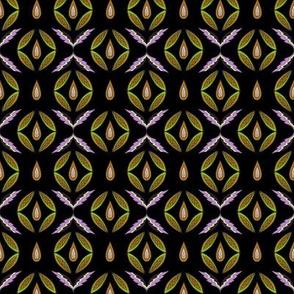 Eastern folk. Purple and green